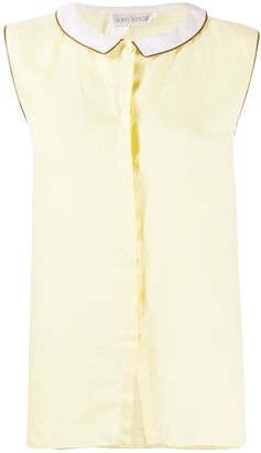 Versace Pre-Owned 1970s Spread Collar Top