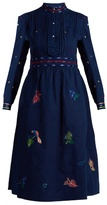 Thierry Colson Rebecca floral-embroidered cotton dress