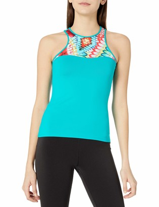 Luli Fama Women's High Neck Racer Tank