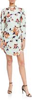 A.L.C. Jane Floral Crepe Puff-Sleeve Dress