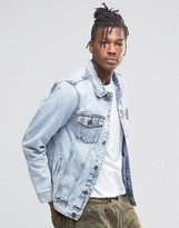Pull&Bear Denim Jacket In Light Wash Blue