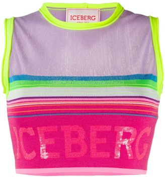Iceberg Fine Knit Cropped Top