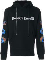 Roberto Cavalli printed logo hoodie