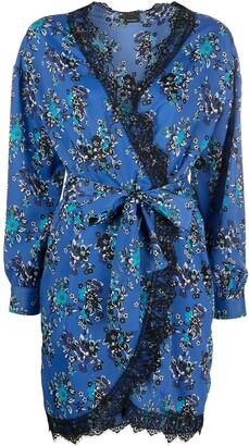 Pinko Floral Wrap Mini Dress