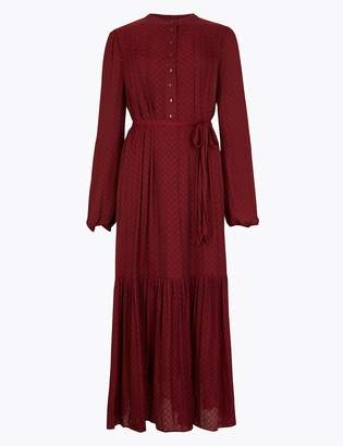 M&S CollectionMarks and Spencer Jacquard Print Relaxed Midi Dress