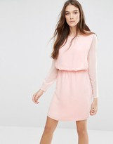 Lavand Classic Long Sleeve Waisted Dress
