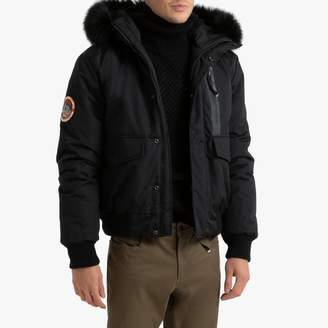 Superdry Everest Bomber Jacket with Faux Fur Hood and Pockets