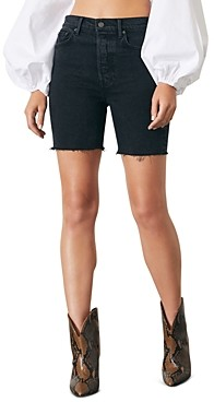 GRLFRND Riley Denim Bermuda Shorts in Downtown