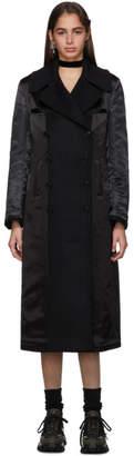 Junya Watanabe Reversible Black Wool Coat