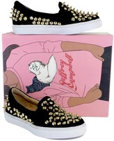 Jeffrey Campbell Black & Gold Alva Spike Shoes