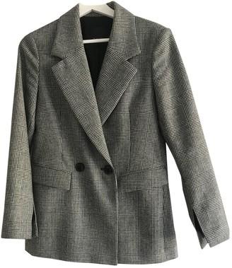 Sand Grey Wool Jacket for Women