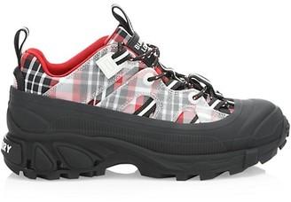 Burberry Arthur Tartan Chunky Sneakers