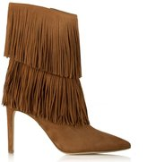 Suede Fringe Ankle Boots - ShopStyle UK