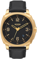Nixon Charger Leather Watch Gold