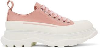 Alexander McQueen Pink Tread Slick Platform Low Sneakers
