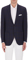 Luciano Barbera MEN'S CHECKED SILK-BLEND TWO-BUTTON SPORTCOAT