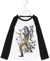 Little Marc Jacobs printed longsleeved T-shirt