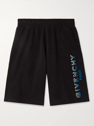 Givenchy Logo-Flocked Loopback Cotton-Jersey Shorts