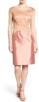 Lafayette 148 New York 'Josette' Embroidered Jacquard & Shantung Sheath Dress