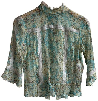 Tracy Reese Green Silk Top for Women