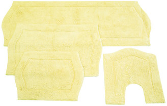 Home Weavers Inc. Waterford 4-Piece Bath Rug Set, Yellow