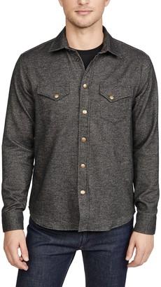 Billy Reid Long Sleeve Western Snap Front Shirt