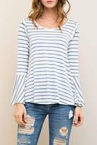 Entro Stripes & Ruffles Top