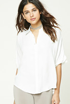 Forever 21 FOREVER 21+ Dolman Button-Front Shirt
