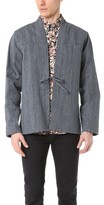 Naked & Famous Denim Hank Dyed Speckle Twill Kimono Shirt