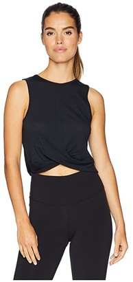 Beyond Yoga Crossroads Reversible Cropped Tank Top (Black) Women's Sleeveless