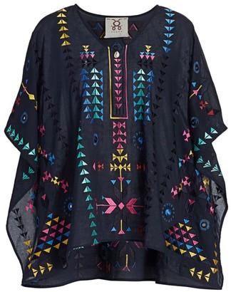 Figue Ritika Half-Sleeve Embroidered Kaftan Top