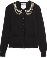 Moschino Embellished Wool Cardigan - Black