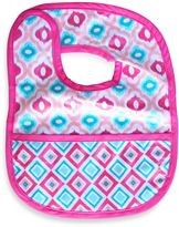 Caden Lane Mod/Diamond Reversible Coated Bib in Pink