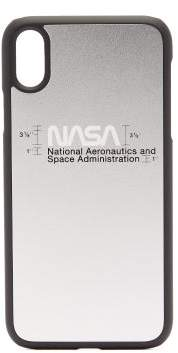 Heron Preston Nasa-print Iphone Xr Case - Mens - Silver