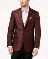 Tallia Men's Big & Tall Slim-Fit Burgundy Paisley Sport Coat