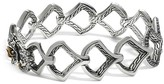 John Hardy Sterling Silver & 18K Gold Naga Medium Scale Lava Link Bracelet with Black Sapphires