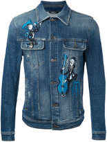 Dolce & Gabbana embroidered denim jacket - men - Cotton/Polyester/Spandex/Elastane - 50