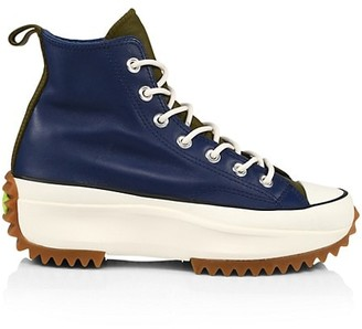 Converse Run Star Hike High-Top Leather Sneakers