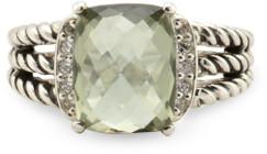 David Yurman Wheaton Ring (Prasiolite and Diamonds) - Size 5