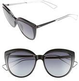 Christian Dior Women's 'Liner' 56Mm Cat Eye Sunglasses - Black/ Palladium