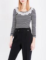 Claudie Pierlot Mariniere striped knitted jumper