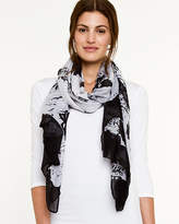 Le Château Abstract Print Lightweight Scarf