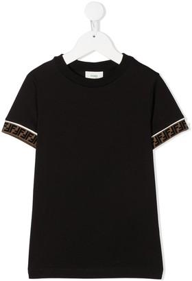 Fendi Kids FF-trim T-shirt