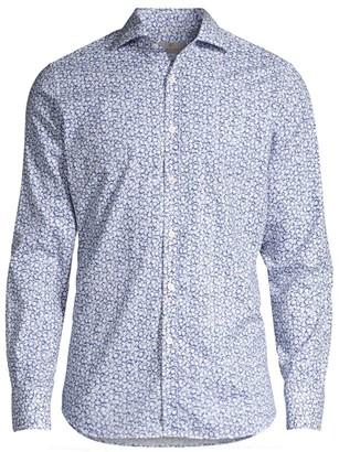 Canali Floral Cotton Shirt
