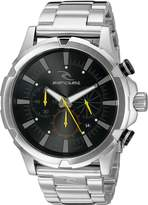 Rip Curl Men's A2731BLK Maverick Chrono Analog-Display Quartz Silver-Tone Watch