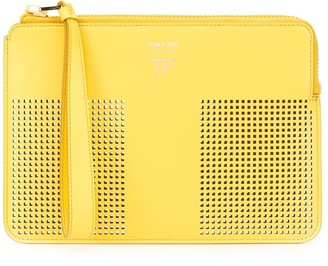 Tom Ford perforated T clutch