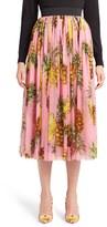 Dolce & Gabbana Women's Pineapple Print Pleated Midi Skirt