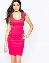 Lipsy Midi Dress in Applique Lace