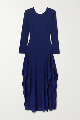 Stella McCartney Ruffled Crepe Maxi Dress - Blue