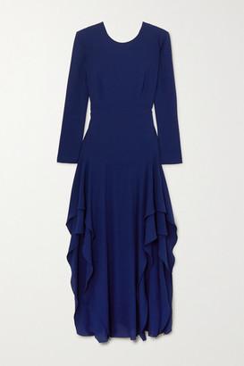 Stella McCartney Ruffled Crepe Maxi Dress - Blue